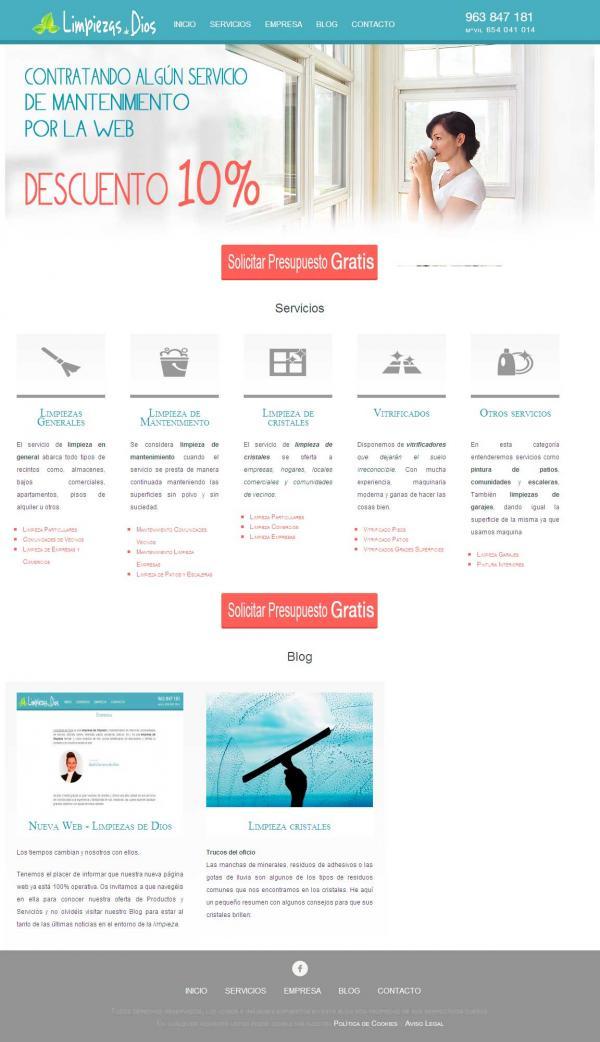 Diseño web Valencia - NeutralSEO - Limpiezas de Dios