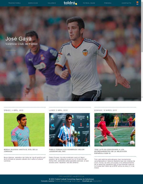Diseño web Valencia - José Gayà - NeutralSEO - Toldrá