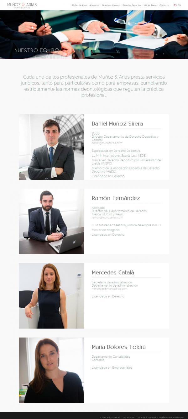 Muñoz & Arias - Sports Lawyers - NeutralSEO
