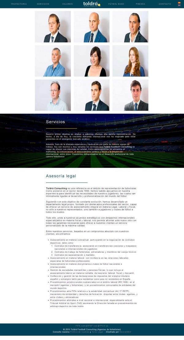 Diseño web Valencia - NeutralSEO - Toldrá