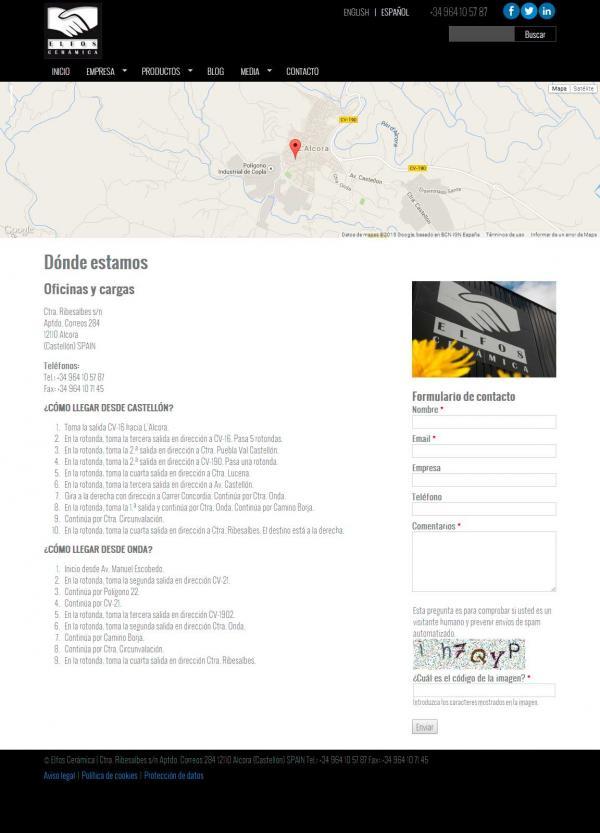 Diseño web Valencia - NeutralSEO - Elfos Cerámica S.L.